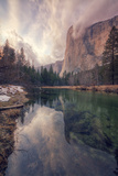 Clearing Storm at El Capitan, Yosemite Fotografie-Druck von Vincent James