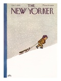 The New Yorker Cover - January 7, 1956 Premium Giclee Print by William Steig
