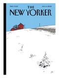 The New Yorker Cover - January 14, 2002 Regular Giclee Print by Jean Claude Floc'h