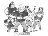 "A group of tough guys. Beneath reads ""The Noogie Kings"" - New Yorker Cartoon Giclee Print by Andy Friedman"
