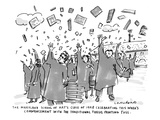 "The Maryland School of Art's Class of 1998 Celebrating This Week's Commenc…"" - New Yorker Cartoon Premium Giclee Print by Michael Crawford"