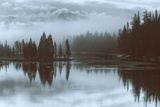 Misty Blue, Yellowstone River Photographic Print by Vincent James