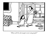 """When will I be old enough to start suing people"" - New Yorker Cartoon Giclee Print by Bruce Eric Kaplan"