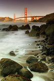 Baker Beach and the Golden Gate Bridge Fotografie-Druck von Vincent James