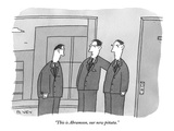 """""""This is Abramson, our new piñata."""" - New Yorker Cartoon Premium Giclee Print by Peter C. Vey"""