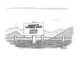 Welcome to Lovers' Leap, Assisted - New Yorker Cartoon Premium Giclee Print by Jack Ziegler