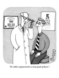 """It's either conjunctivitis or twin pools of desire."" - New Yorker Cartoon Premium Giclee Print by J.C. Duffy"