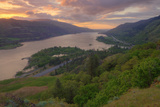 Sunrise at Columbia River Gorge Photographic Print by Vincent James