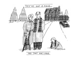 THEY'VE GOT IT PLAID...AND THAT AIN'T GOOD. - New Yorker Cartoon Premium Giclee Print by Michael Crawford