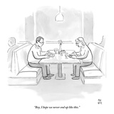 """Boy, I hope we never end up like this."" - New Yorker Cartoon Premium Giclee Print by Paul Noth"