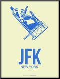 Jfk New York Poster 3 Mounted Print by  NaxArt