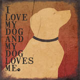 Dog Love Poster by Jo Moulton