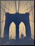 Brooklyn Bridge Mounted Print by  NaxArt