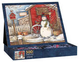 Winter Barn 500 Piece Jigsaw Puzzle Jigsaw Puzzle