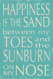 Happiness is the Sand Prints by Holly Stadler