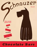 Schnauzer Bars Poster by Ken Bailey