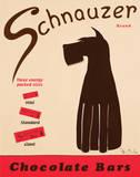 Schnauzer-choklad|Schnauzer Bars Poster av Ken Bailey