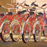 Retro Bikes Print by Darrell Hill