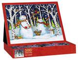 Birch & Snowmen 500 Piece Jigsaw Puzzle Jigsaw Puzzle
