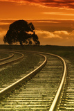 Railroad Sunset Photographic Print by Vincent James