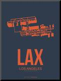 Lax Los Angeles Poster 3 Mounted Print by  NaxArt