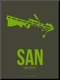 San San Diego Poster 2 Mounted Print by  NaxArt