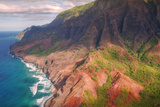 Na Pali Coast and Late Afternoon Light Photographic Print by Vincent James