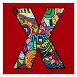 Letter X Prints by Emi Takahashi