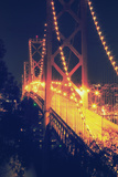 Vintage Bay Bridge Scene Fotografie-Druck von Vincent James