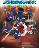 Sesame Street - Monsters Of Rock Poster