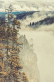 Canyon Mood and Mist Fotoprint van Vincent James