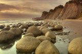 Afternoon at Bowling Ball Beach Fotoprint van Vincent James