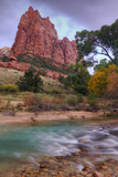 Zion Morning Riverside Photographic Print by Vincent James
