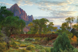 Zion Canyon Bridge Photographic Print by Vincent James