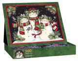 Snowmen Family 500 Piece Jigsaw Puzzle Jigsaw Puzzle