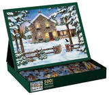 Nestled In The  Pines 500 Piece Jigsaw Puzzle Jigsaw Puzzle