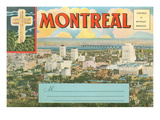 Montreal Post Card Folder Prints