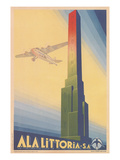 Airplane Passing Mussolini Obelisk Prints