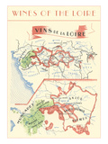 Wines of the Loire, Map Prints