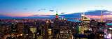 Aerial New York City Skyline Panorama at Dusk with Empire State Building Prints