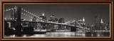 Brooklyn Bridge and Manhattan Skyline Print by Purdy Graeme