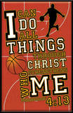 I Can Do All Things (Basketball) Plaque Wood Sign