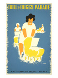 Wpa Doll and Buggy Parade Poster Poster
