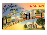 Greetings from Darien, Connecticut Posters