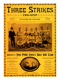 Three Strikes Two-Steps Sheet Music Plakat