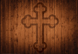 Wood Cross Laptop Skin Sticker Laptop Stickers
