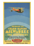 Early Ad for Midwestern Air Travel Art