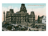 City Hall, Market Place, Montreal, Canada Print