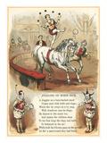 Circus Visit, Horseback Juggling Print