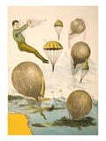 Balloon Rider at Circus - Poster